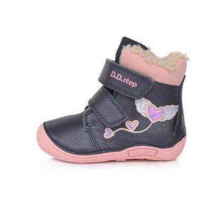 D.D.Step kislány bundás 'barefoot' bakancs-Utsoló pár (20) 018-305A