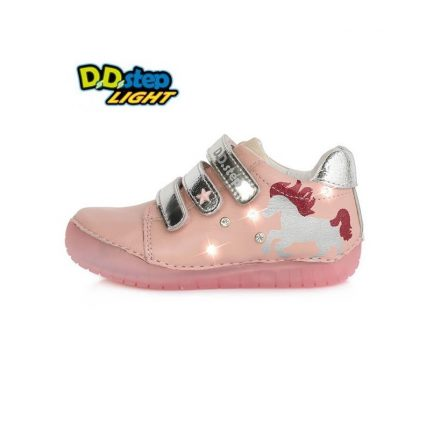 D.D.Step villogó, kislány bőr cipő (25-30) 050-272M