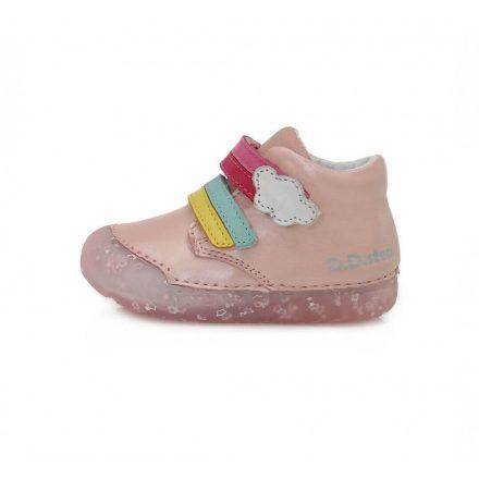 """D.D.step """"Barefoot"""" kislány bőr bokacipő-Pink (20-25) 066-9A"""